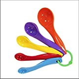 La medición de los hogares Conjuntos Cuchara de 5 colorido, Medida digital de cocina Cuchara con Marcado de plástico for Hornear