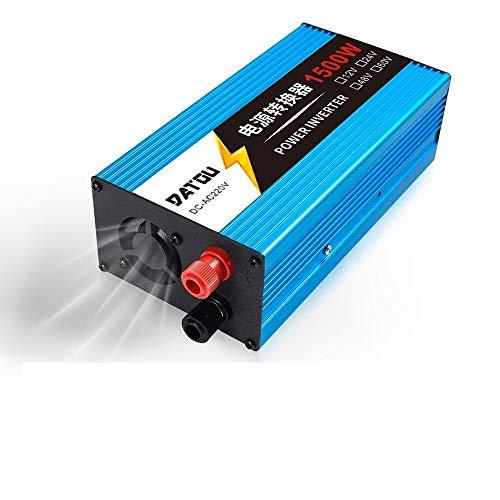 Inversor Car Inverter 1500W Modificado adaptador del inversor del convertidor de energía de onda de seno de 12V 24V a 220V de alimentación del cargador del coche inversor de la energía de la batería I