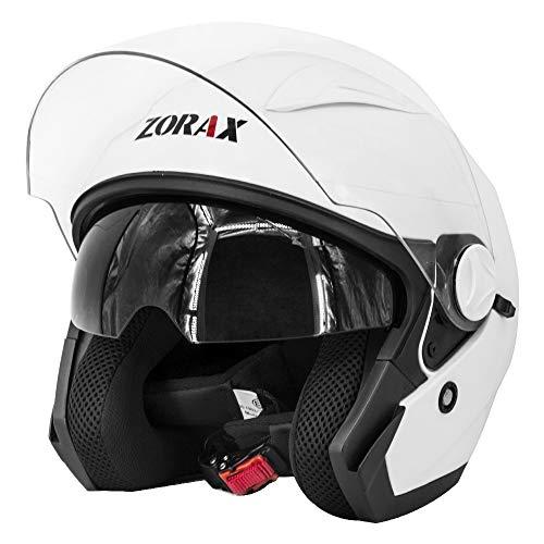 Zorax White M (57-58cm) ZOR-608 Double Sun Visor Open Face Motorbike...