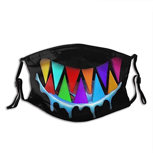 asdew987 Máscara facial de algodón ajustable y lavable con diseño de tiburón, unisex, adulto para mujeres, hombres