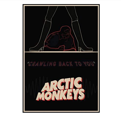 YOUCAIHUA Arctic Monkeys Kraft Poster Rockmusik Bardekoration Zeichnungskern Wandaufkleber 42 * 30CM