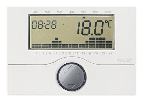VIMAR 01910 Cronotermostato Programmabile a Batteria