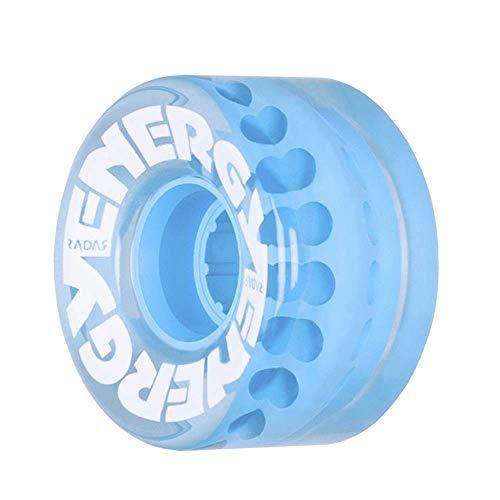 Radar Wheels - Energy 57 - Roller Skate Wheels - 4 Pack of 78A 31mm x 57mm Quad Skate Wheels | Clear Blue