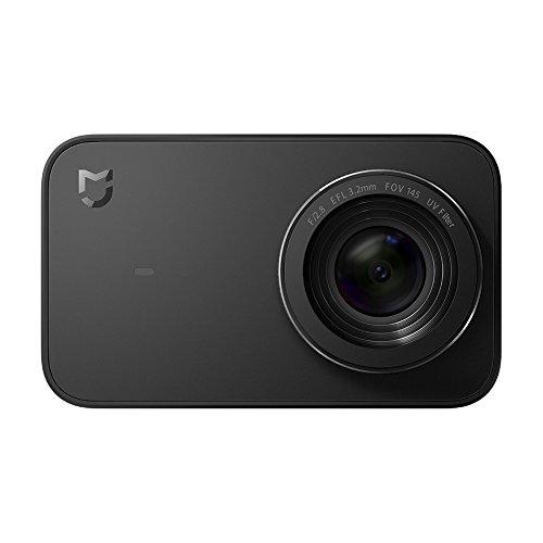 Câmera de ação Xiaomi YDXJ01FM Mi 4K, tela sensível ao toque de 2,4 polegadas, câmera esportiva WiFi com sensor de imagem Sony, ângulo amplo de 145° 4K/30fps 1080P/100fps imagem bruta de vídeo, preta