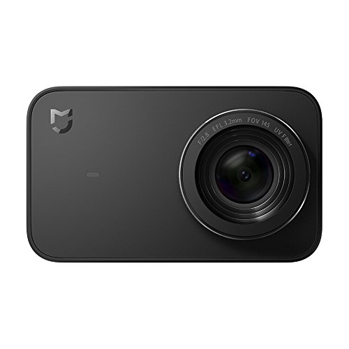 "Xiaomi YDXJ01FM Mi 4K Action Camera, 2.4"" Touchscreen WiFi Sports Camera with Sony Image Sensor, 145° Wide Angle 4K/30fps 1080P/100fps Video Raw Image, Black"