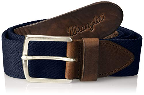 Wrangler Canvas Belt Cintura, Blu (Navy 35), 110 Uomo