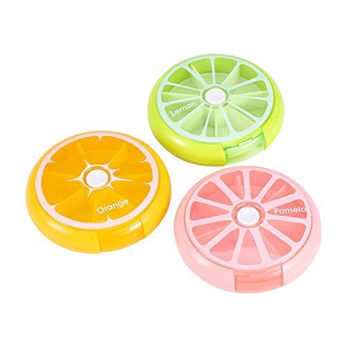 Yosoo 薬ケース 携帯型 ピルケース 防湿 携帯用 カプセル かわいい柑橘フルーツ型 サプリメントケース サプリ ポップカラー 通勤 通学 流行 文旦