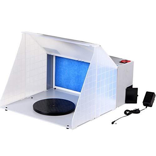 Montloxs Kit de cabina de pulverización de aerógrafo profesional portátil con luz LED, extractor de aerógrafo, filtro de escape, kit de pintura para manualidades en miniatura
