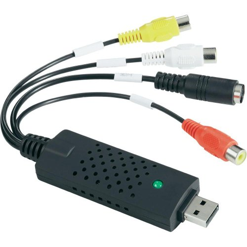 Easyday - EasyCap DC60 USB 2.0 Video VHS auf DVD Konverter, Grabber, Adapter. Capture Card mit Chipset UTV 007 für Win7/8/10
