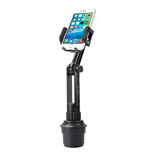 Cellet PH650 Car Cup Holder Mount Smart Phone Cradle Compatible for iPhone 12 11 Pro max Xs Max Xr X 8 Plus Samsung Note 10+ 9 8 5 Galaxy A50 A6 S10 S10+ S9 Plus S8+ Active J7 V J3 V Extra Long Neck