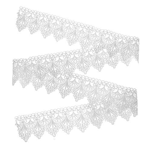 Artibetter Spitzenborte, bestickt, Spitzenbordüre, Brautdekoration, Retro-Applikation, Kleidung, Nähzubehör, 182 cm (weiß)
