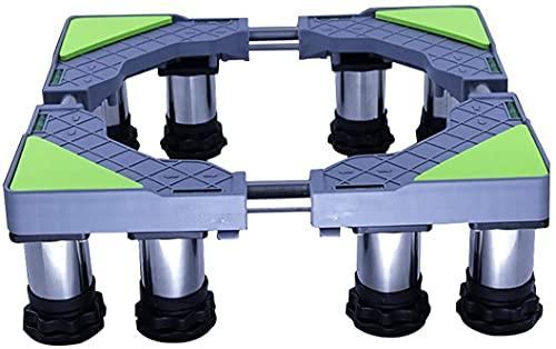 Base Lavadora Aparato Refrigerador Pie de pedestal Piedra Longitud ajustable / Ancho 45-65 cm Frigorífico Congelador Soporte Soporte Universal High Estante Altura 14-17cm Bandejas de enfriador de vino