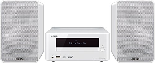 Onkyo CS-265DAB(W) CD HiFi Minisystem mit DAB+ (CD Player, MP3, Radio, 2 x 20 W Ausgangsleistung, Lautsprecher, Bluetooth, NFC, Musik streamen, USB/Audio in, iPhone kompatibel), Weiss