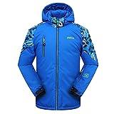 PHIBEE Big Boys' Waterproof Breathable Outdoor Warm Snowboard Ski Jacket Blue 8
