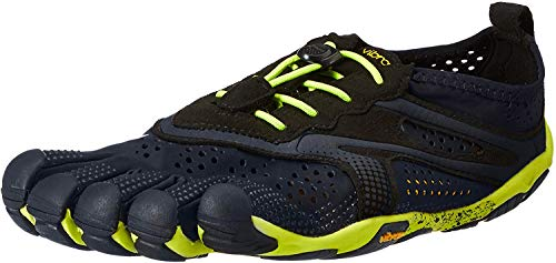 Vibram Men's V Running Shoe, Black/Yellow, 43 EU/9.5-10 M US