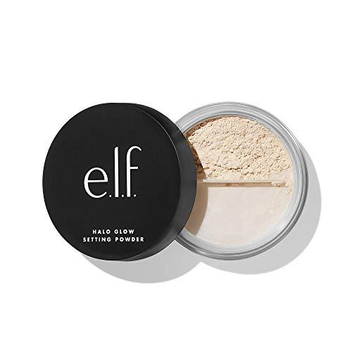 e.l.f. Halo Glow Setting Powder, seidig, schwerelos, unscharf, glättet, minimiert Poren und feine Linien, erzeugt einen weichen Fokuseffekt, leichtes, halbmattes Finish, 6,8 g