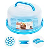 🎂 KEEPS CAKE FRESH: Finally, delicious homemade baked goods that last; This round cake saver with locking lid and handle latches shut to ensure your cakes, pies, cookies, cupcakes, and cheesecake don't get stale. 🎂 SHOWCASE YOUR BAKING SKILLS: Use th...