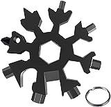 ZIMAIC Regali Natale -18-in-1 Multi-Tool Snowflake, Multi Attrezzo in Acciaio Portatile, Idee Regalo Uomo, Regalo Uomo fai da te Attrezzi Gadget (Black)