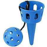 Vbest life Juego de Lanzamiento de cucharas Equipo de Entrenamiento de coordinación para niños Equipo de coordinación de Ojos y Mano Juego de Pelota Deportiva para lanzar y atrapar(Azul)
