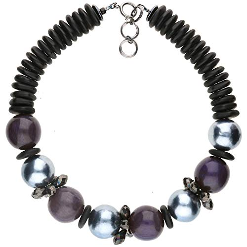 langani Halskette Nocturne Damen-Kette schwarzen Perle Handmade Since 1952