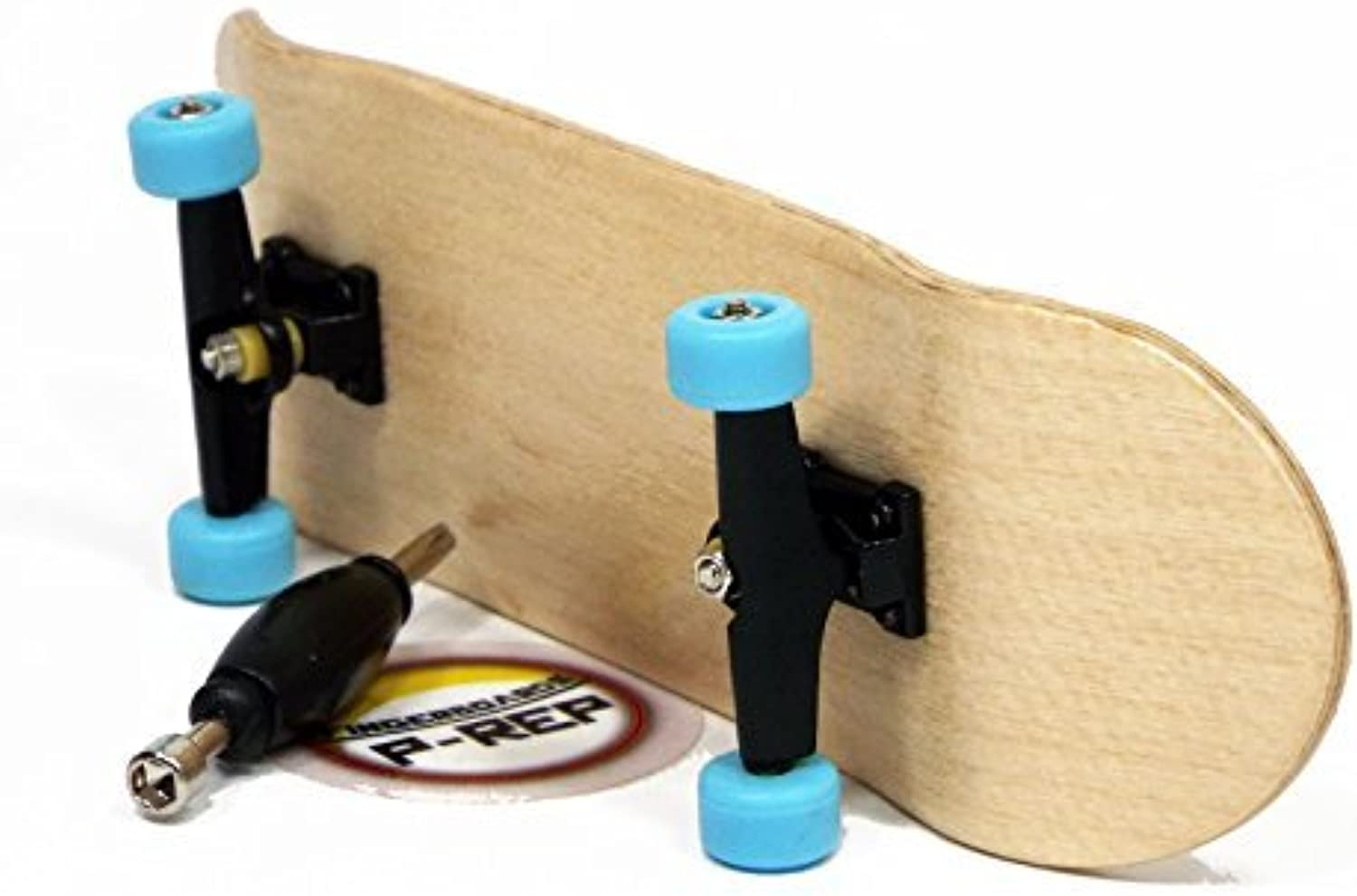 Peoples Republic Maple Complete Wooden Fingerboard with Basic Bearing Wheels  Starter Edition by Peoples Republic
