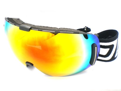 Dirty Dog Goggles 54090 Rouge Blizzard Frameless Visor Goggles Lens Mirrored Size Large