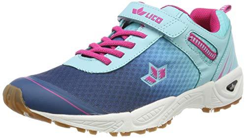 Lico Damen Barney VS Multisport Indoor Schuhe, Türkis (Türkis/Marine/Pink Türkis), 40 EU