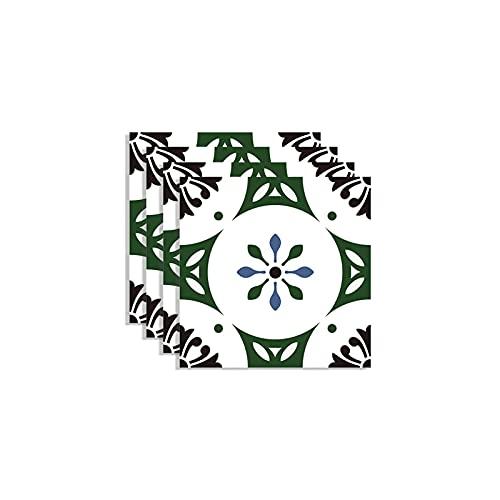 QOXEFPJZ Cenefa Adhesiva Cocina 4 unids Mosaico Piso de azulejo azulejo Pegatina de azulejo 30x30cm Pegatina de azulejo baño y Cocina decoración de Azulejos de baldosa baño y Cocina