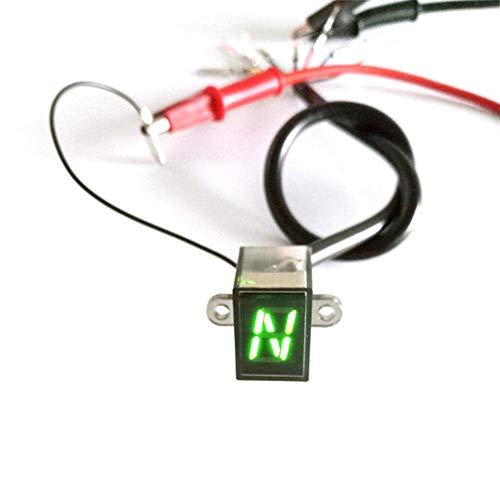 Adminitto88 Motorrad-Ganganzeige, Wasserdichte LED-Anzeige Plug & Play Motorradanzeige, Universal Highlight Double Color