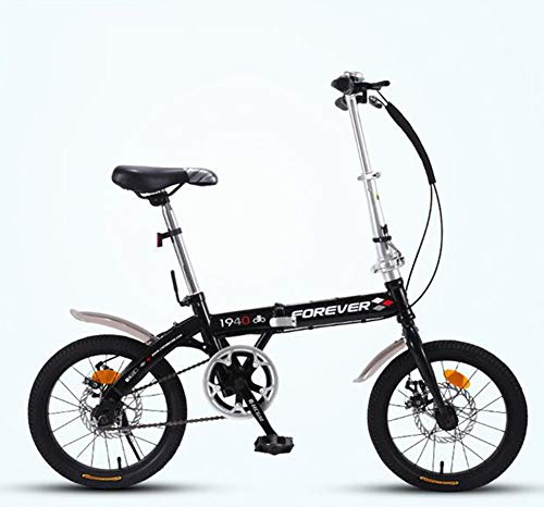 WPY Bicicleta Plegable, de 20 Pulgadas, 7 Velocidades, Acero Carbono,Cadena, Unisex (Negro)