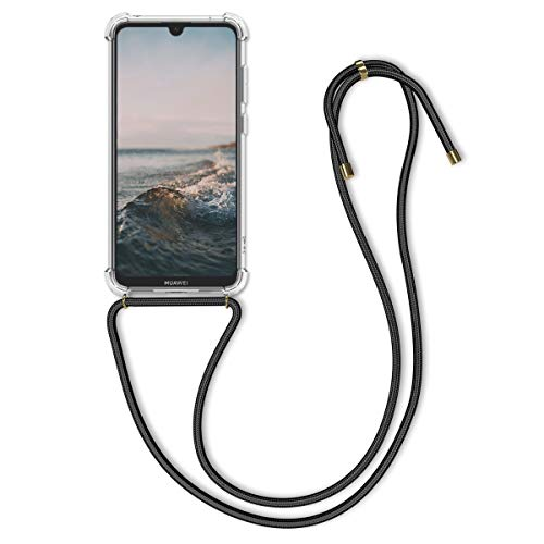 kwmobile Necklace Hülle kompatibel mit Huawei Y7 (2019) / Y7 Prime (2019) - Hülle Silikon mit Handykette - Band Handyhülle Transparent
