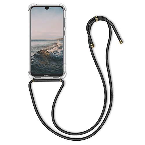 kwmobile Hülle kompatibel mit Huawei Y7 (2019) / Y7 Prime (2019) - mit Kordel zum Umhängen - Silikon Handy Schutzhülle Transparent