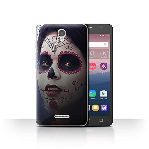 Stuff4® Phone Case/Cover/Skin/ALC-CC/Day of The Dead Festival Collection Alcatel Pop Star 3G Halloween afbeeldingen.