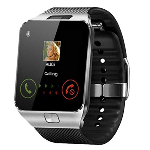 xiaoxioaguo Reloj inteligente para hombre con Bluetooth y reloj deportivo digital, color plateado