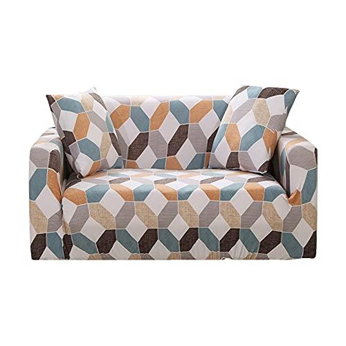 Funda elástica para sofá, Funda de Toalla de algodón, Fundas para sofá para Sala de Estar, Funda para sofá, Proteger Muebles A12, 1 Plaza