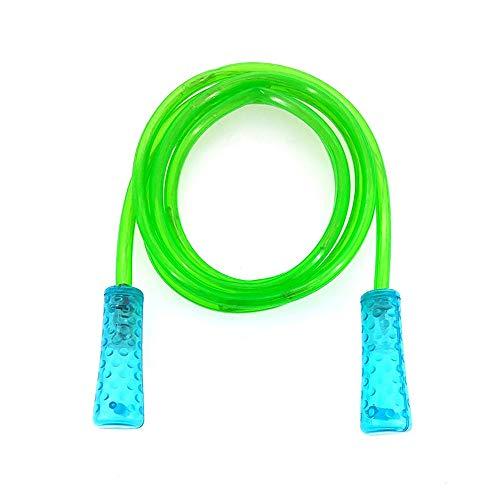 Hui Jin Springseil mit LED-Beleuchtung, buntes Fitness-Spielzeug, blinkendes Geschenk für Kinder, Grün
