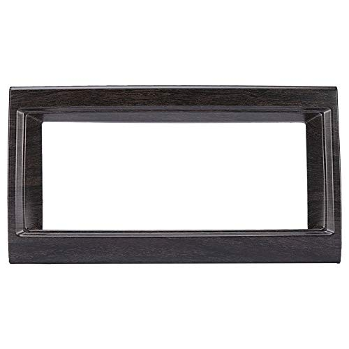 Duokon 10 inch auto navigatie box frame hoes, eiken houten graan interieur navigatie doos Trim voor Discovery 5 17-18 (ABS kunststof)