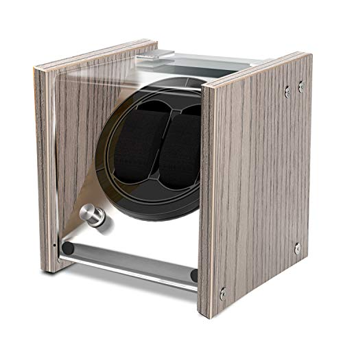 Watch Winder Smith Uhrenbeweger aus Eiche Holz und Metall für 2 Uhren, B1OAK