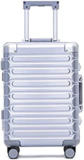 Luggage Aluminum Frame Hard Case Suitcase Spinner TSA Lock 26 Inch Silver