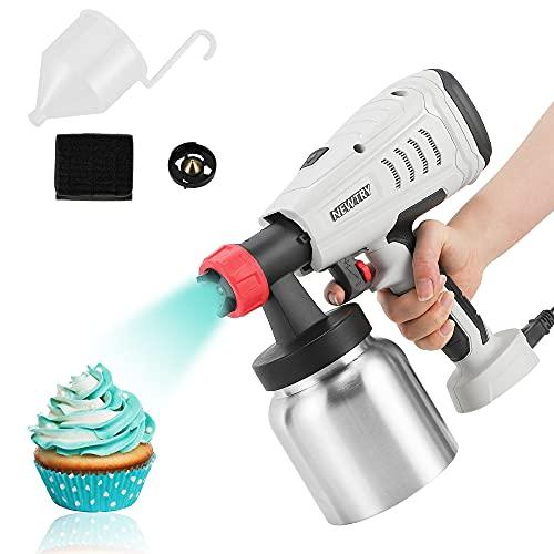 NEWTRY 800W Dessert Chocolate Spray Gun Electric Paint Sprayer Cake Decorating Kit Manual Baking Sandblasting Machine, 3 Patterns for Cake , Chocolate Decoration, or Furniture, Fence, Farm etc
