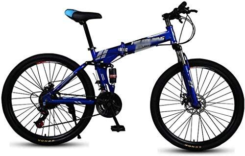 Qinmo Folding Mountain Bike Doppel Damping Doppelscheibenbremse Erwachsener 6 Messer Rad Fahrrad männliche und weibliche Studenten mit Variabler Geschwindigkeit Fahrrad