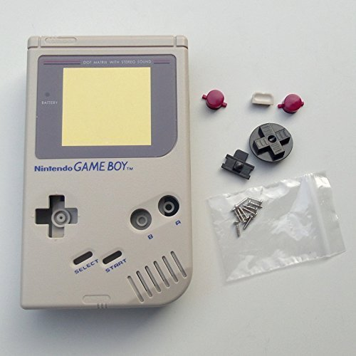 New Full Housing Shell Case Cover for Nintendo Gameboy Classic 1989 GB DMG Console Gray