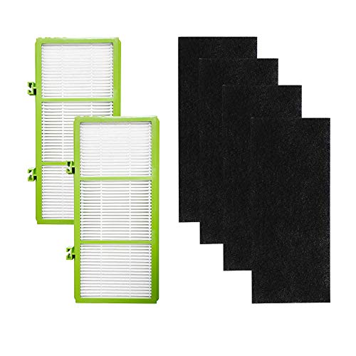 ECOMAID Replacement air Purifier Filter for Holmes AER1 HEPA Type Total Air Filter, Replacement Filters for HAPF30AT and HAP242-NUC (2 HEPA True Filter + 4 Booster Pre Filter)