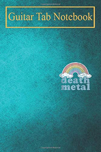 Composition Notebook: DEATH METAL Rainbow Funny Retro Vintage Rock Music Metalhead Blank Sheet Music For Guitar over 100 Pages With Chord Boxes