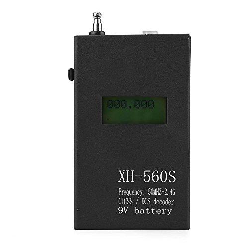 Draagbare LCD-handheld met 50 MHz-2,4 GHz frequentieteller CTCSS / DCS-decoder voor portofoons