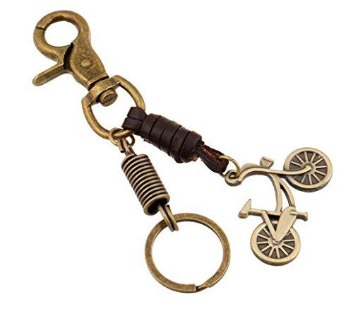 Sucolin Bicicletta Portachiavi Originali in Metallo Vintage Keychains in Pelle Idea Regalo Charm