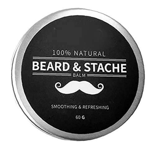 Budstfee Barba Bálsamo para Hombre Crecimiento Cera Mantequilla Styling AZULTANTE ACONDICIONADOR HUZ DE Ingredientes Naturales