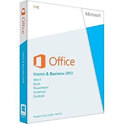Microsoft Office Home and Business 2013 with DVD for 1 PC