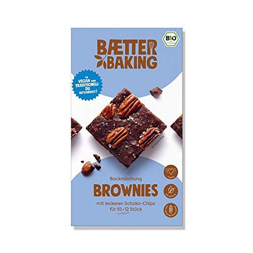Baetter Baking Bio-Backmischung Brownies, 302g, glutenfrei, vegan & mit Kokosblütenzucker