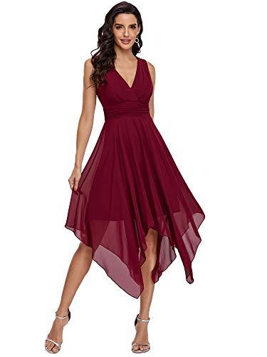 Ever-Pretty Vestido de para Invitada de Boda Asimétrico Largo para Mujer Escote...